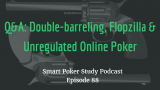 Firing the Double-barrel, Flopzilla & Unregulated Online Poker | Q&A | Smart Poker Study Podcast #088