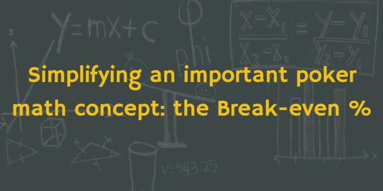 break even odds calculator