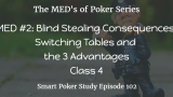 Blind Stealing Consequences and Switching Tables | MED #2 Class 4 | Poker Podcast #102