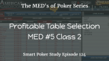 Profitable Table Selection | MED #5 Class 2 | Poker Podcast #124