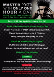 Master Poker With Only One Hour A Day