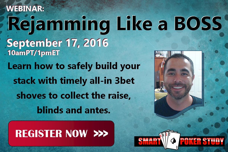 Rejamming Like a BOSS – Poker MTT Webinar