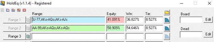 41% equity