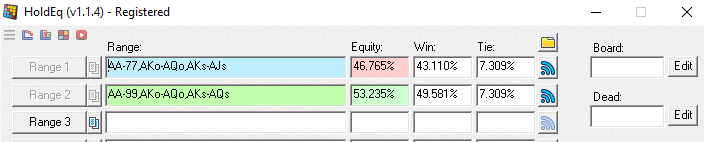47% equity