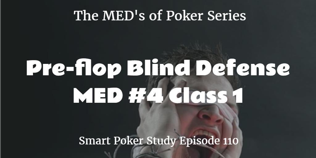 pre-flop blind defense